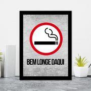 Quadro Decorativo 27x36 Fumar Bem Longe Daqui!