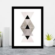 Quadro Decorativo 27x36 Geométrico Triângulos