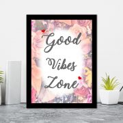 Quadro Decorativo 27x36 Good Vibes Zone