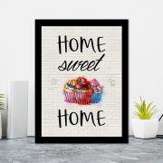 Quadro Decorativo 27x36 Home Sweet Home