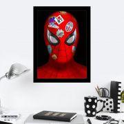 Quadro Decorativo 27X36 Homem Aranha Selos