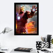 Quadro Decorativo 27X36 Homem de Ferro Guerra