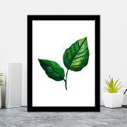 Quadro Decorativo 27x36 Ilustração de Folhas