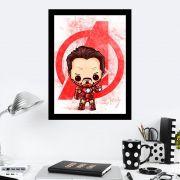 Quadro Decorativo 27X36 Iron Man Art