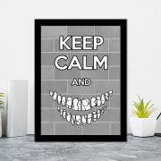 Quadro Decorativo 27x36 Keep Calm And Sorria