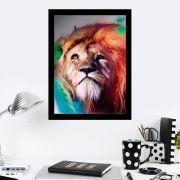 Quadro Decorativo 27x36 Leão de Judá Boreal