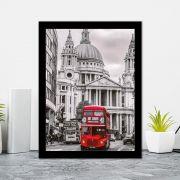 Quadro Decorativo 27x36 Londres Oninus Vermelho