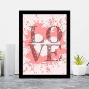 Quadro Decorativo 27x36 Love Coração de Tinta