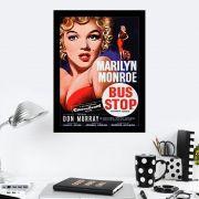 Quadro Decorativo 27x36 Marilyn Monroe Bus Stop