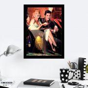 Quadro Decorativo 27x36 Marilyn Monroe e Elvis Presley