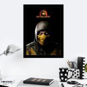 Quadro Decorativo 27x36 Mortal Kombat Scorpion