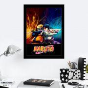 Quadro Decorativo 27x36 Naruto vs Sasuke