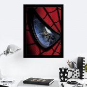 Quadro Decorativo 27X36 Olhar do Homem Aranha