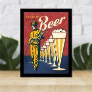 Quadro Decorativo 27x36 Propaganda Cerveja Vintage