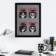 Quadro Decorativo 27x36 Ramones Caveiras