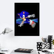 Quadro Decorativo 27x36 Sonic