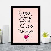 Quadro Decorativo 27x36 Sorria Você está Sendo Amado