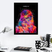 Quadro Decorativo 27X36 Star Wars Chewbacca