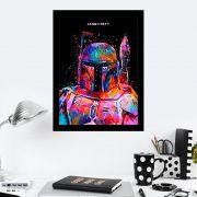 Quadro Decorativo 27X36 Star Wars Jango Fett