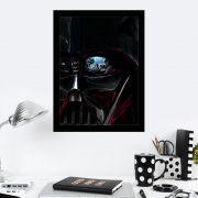 Quadro Decorativo 27X36 Star Wars Olhos de Darth Vader