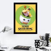 Quadro Decorativo 27x36 Super Smash Bros Bowser Jr
