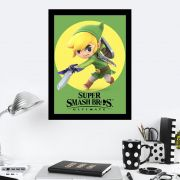Quadro Decorativo 27x36 Super Smash Bros Toon Link Render