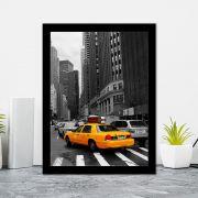 Quadro Decorativo 27x36 Taxi Amarelo NY