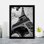 Quadro Decorativo 27x36 Torre Eiffel Preto e Branco I