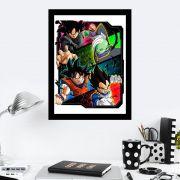 Quadro Decorativo 27x36 Turma Dragon Ball