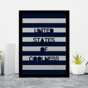 Quadro Decorativo 27x36 United States Of Coolness