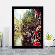 Quadro Decorativo 27x36 Verão em Amsterdam