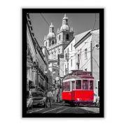 Quadro Decorativo 33x43 Bonde Vermelho em Lisboa