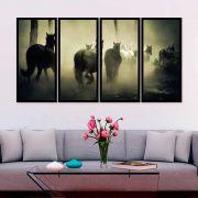 QUADRO MOSAICO 4 PARTES RETO HORSE FAMILY