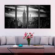 QUADRO MOSAICO 4 PARTES RETO NEW YORK EMPIRE STATES