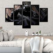 QUADRO MOSAICO 5 PARTES BATMAN COMICS CLASSIC