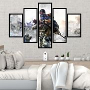 QUADRO MOSAICO 5 PARTES CALL OF DUTY