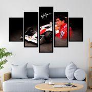 Quadro Mosaico 5 partes Montagem Ayrton Senna
