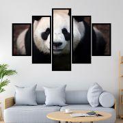 QUADRO MOSAICO 5 PARTES PANDA