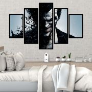QUADRO MOSAICO 5 PARTES THE JOKER