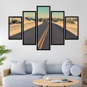 QUADRO MOSAICO 5 PARTES THE ROAD