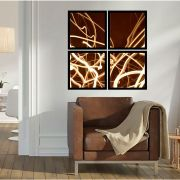 Quadro Mosaico 72x72cm Abstrato Luzes C/ Mold.