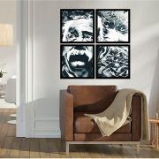 Quadro Mosaico 72x72cm Albert Aisten P&b C/ Mold.