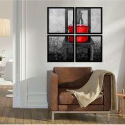 Quadro Mosaico 72x72cm Caldeirão De Tomate C/ Mold.