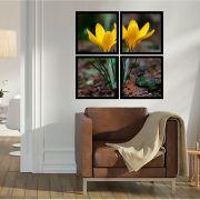 Quadro Mosaico 72x72cm Petal Amarela Abrindo C/ Mold.