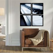 Quadro Mosaico 72x72cm Piano P&b C/ Mold.