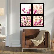 Quadro Mosaico 72x72cm Primavera Com Moldura