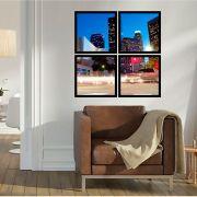 Quadro Mosaico 72x72cm Rua Los Angeles C/ Mold.