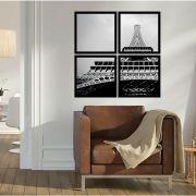 Quadro Mosaico 72x72cm Torre Eiffel C/ Mold.