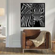 Quadro Mosaico 72x72cm Zebra C/ Mold.