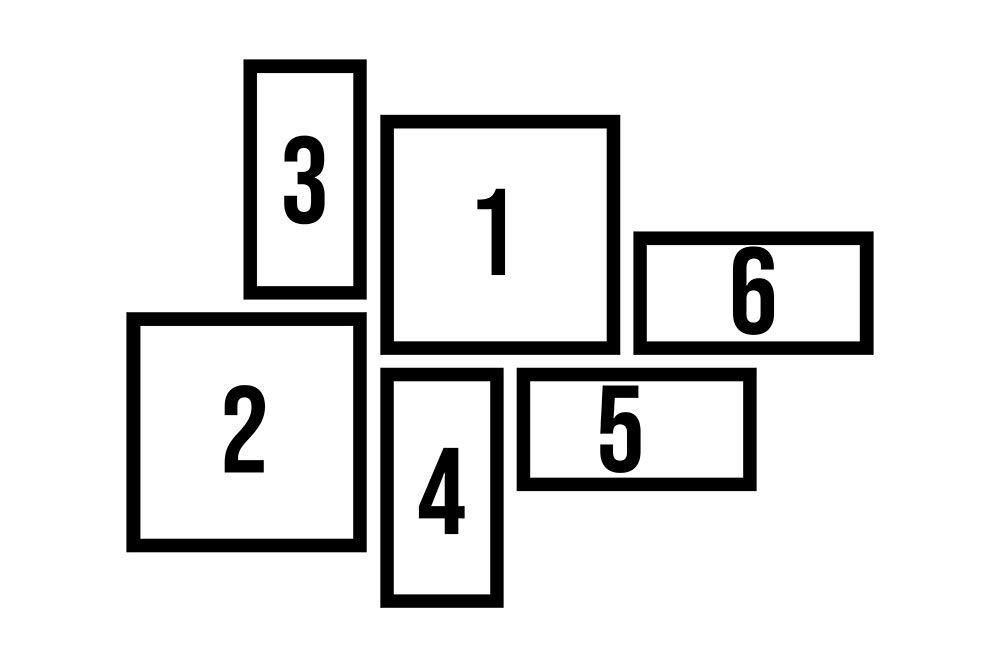 Conjunto Kit 6 Quadros Quadrado Personalizado